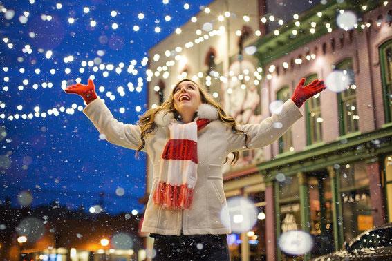 Straßenbeleuchtung Weihnachten