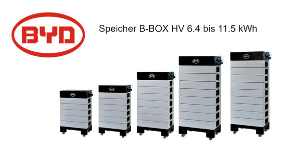 BYD Speicher B-Box HV 6.4 bis 11.5 kWh