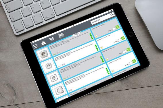 Elektro mobil im Shop online über Tablet suchen, finden und kaufen