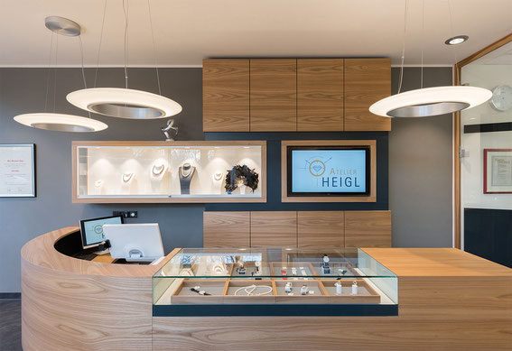 Shop Beleuchtung mit RZB