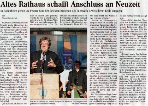 400 Jahr-Feier Rathaus Bodenheim