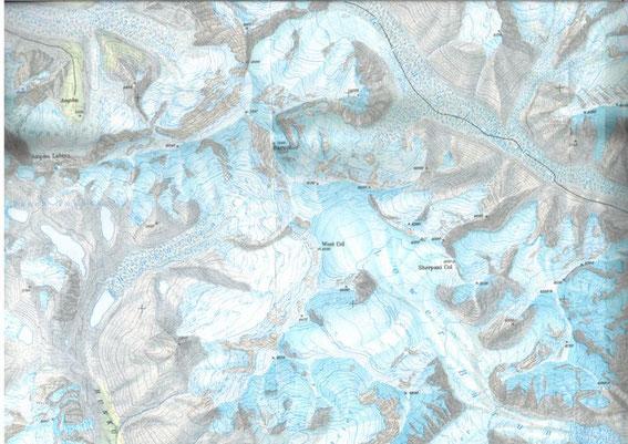 KHumbu Himal Baruntse Map
