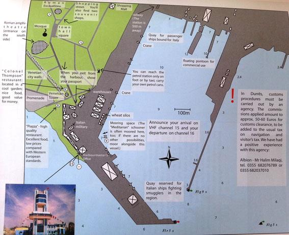 Hafenplan Durres