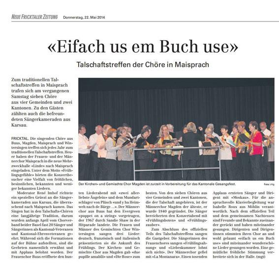 Neue Fricktaler Zeitung vom 22. Mai 2014 (drauf klicken zum vergrössern)