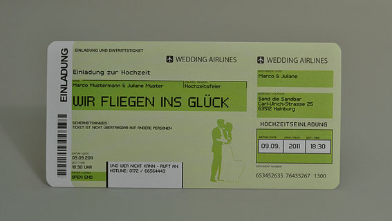 Einladungskarten Flugticket Hochzeit Ticket Einladung  Karte Boarding Pass Weddingairline