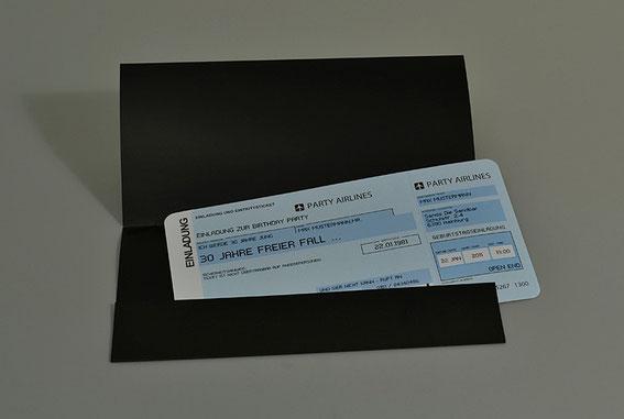 Einladungskarten Flugticket  Geburtstag  Ticket  Einladung  Karte Tickettasche