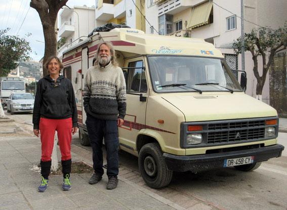 Barbara und Günther, seit 2 Jahren in Europa unterwegs
