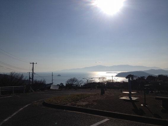 道の駅一本松展望台から瀬戸内海を望む