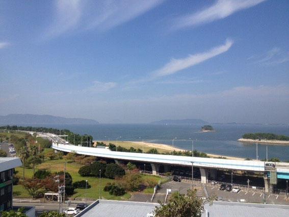 福岡市中央区西公園の西側展望広場からの風景写真