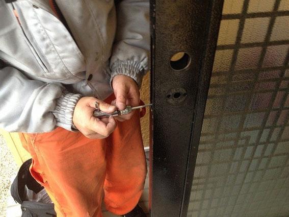 取り付け不良の鍵修繕5