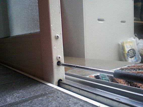 戸車の調整方法