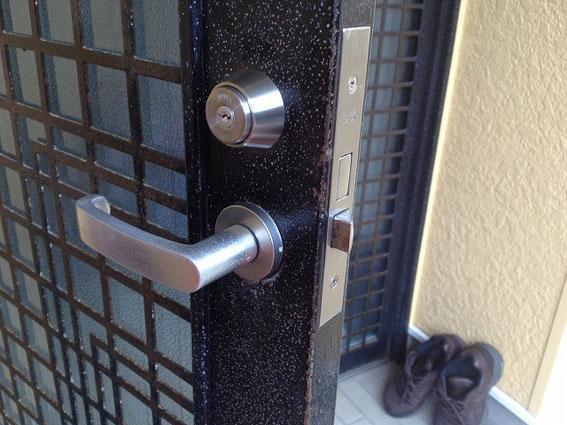 取り付け不良の鍵修繕7