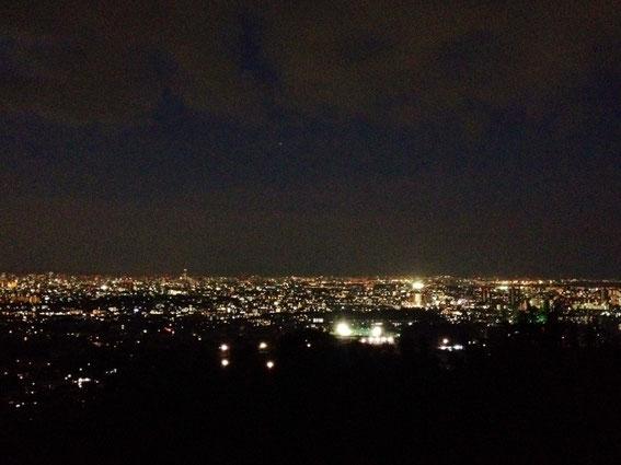 甲山(西宮市)からの夜景