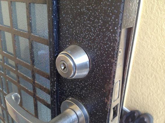 取り付け不良の鍵修繕