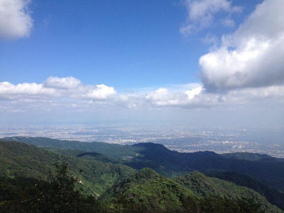 六甲山ガーデンテラス付近からの眺め