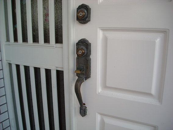 玄関の鍵、交換前