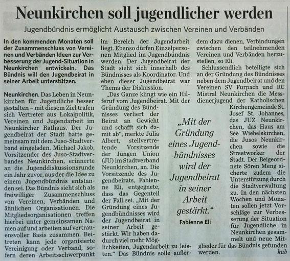 Saarbrücker Zeitung vom 31.03.2015