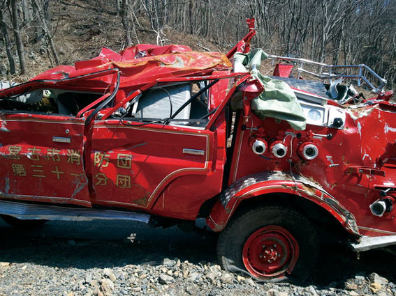 救援するはずの消防車も・・・