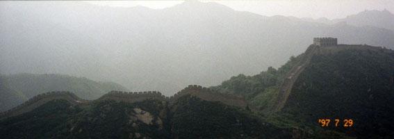 万里の長城(北京に着いて最初に訪れた場所)