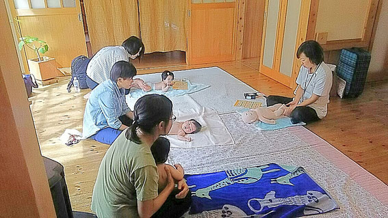 美濃加茂、ベビーマッサージ教室ゆずいろ、久保田万里子、山千造建自宅モデルハウス