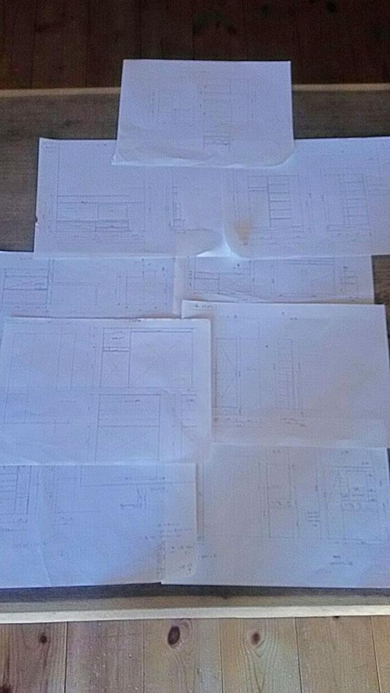 コーディネーターが書く家事計画・造り付け家具図面
