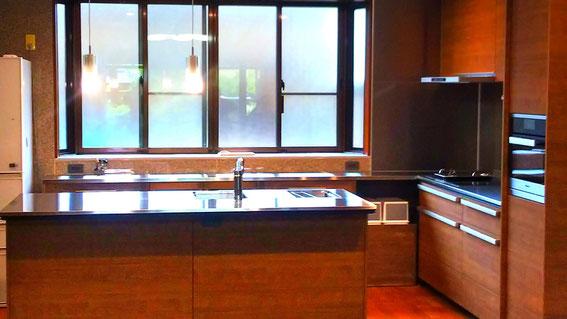 山千造建:美濃加茂木の家:こだわりキッチン:キッチンリフォーム相談