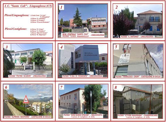 """Clicca per ingrandire le foto degli otto plessi dell'I. C. """"Santo Calì"""""""