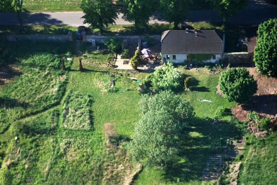 Luftaufnahme vom Garten   © Sibille Peters