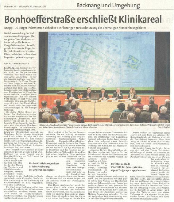Quelle: Backnanger Kreiszeitung