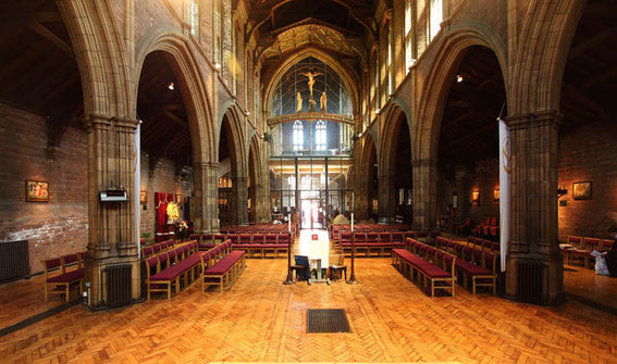 Looking towards the chancel - image by John Salmon on Geograph