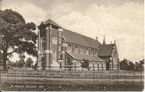 St Agnes' church c1905 - image posted by Leonard Price on Birmingham History Facebook group