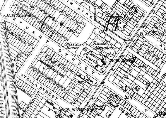 Ordnance Survey map 1884-1891 from British History Online - http://www.british-history.ac.uk/os-1-to-2500/birmingham/014/02
