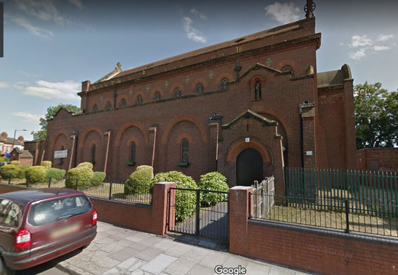 St Benedict's church viewed from Burlington Road - image from Google Streetview