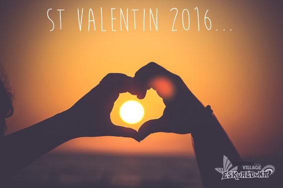 Le Camping Village Eskualduna vous souhaite une bonne  Saint Valentin !