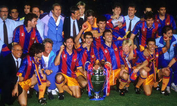20/05/1992, Wembley: Barcelona had done the same thing having also played in the away kit of yellow after beating their opponents Sampdoria 0-1 in the European Cup Final.