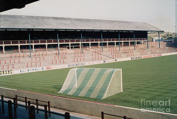 Legendary football grounds: The Riverside looking from The Blackburn End. Pictured here in the early 1980s.