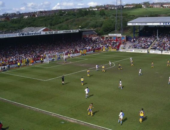 1992: The Blackburn End. Rovers v Derby County.