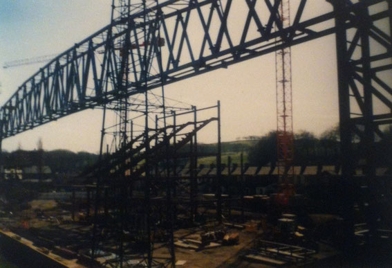 The Nuttall Street Stand demolished and the new Jack Walker Stand takes shape.