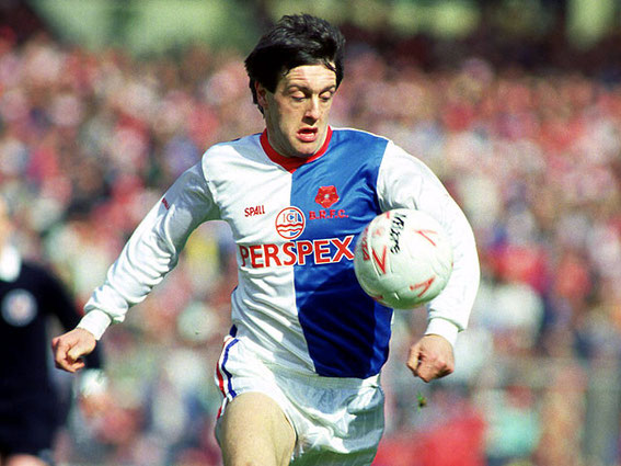 Simon Garner, Rovers legend and darling of The Blackburn End: 1987ish.