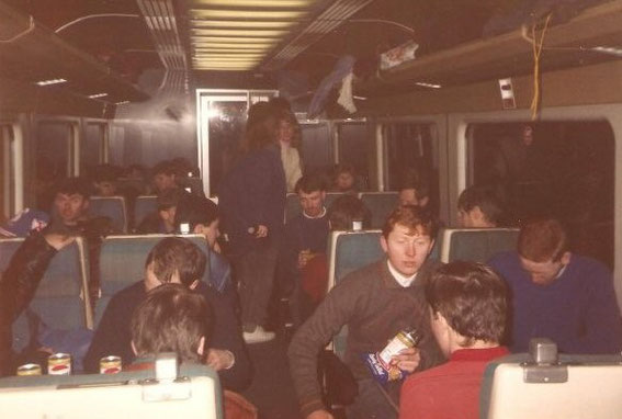 Portsmouth on the way to Blackburn, 1980s.