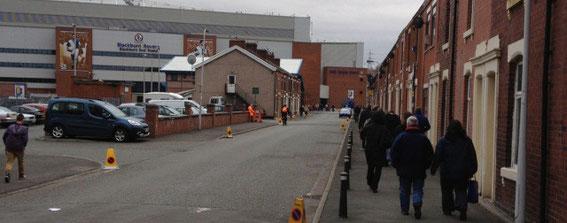 The Ronnie Clayton Blackburn End, today.