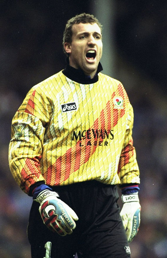 Worn with distinction by Rovers' 177 appearance (1993-1999) Goal Keeper, Tim Flowers. Circa 1995.