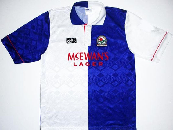 Worn in the first Premier League season which saw Rovers back in top flight football for the first time in 30 years, having a memorable season finishing 4th and hammering Norwich 7-1 early on in the season