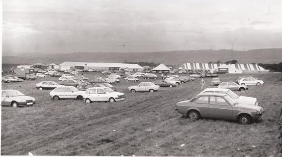The cars that brought the ravers to the Live the Dream rave in Tockholes, Blackburn.