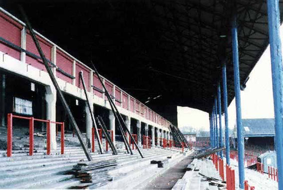 Demolition of The Riverside begins, 1987.