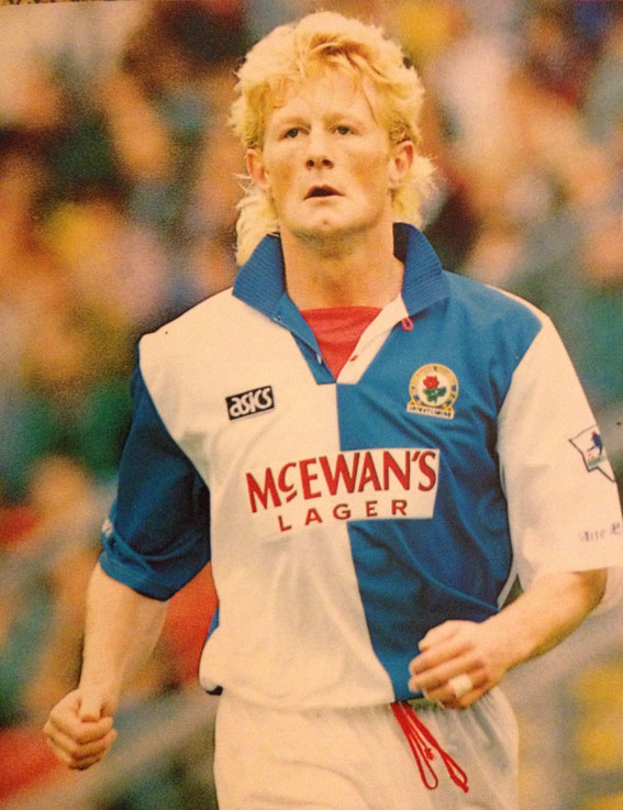 Worn with distinction by Rovers' 337 appearance Central Defender 'Brave Heart' (1987-1989 & 1991-1998) and club legend, Colin Hendry. Circa 1995.