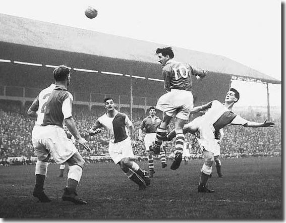 Rovers v Leeds United, 1954-1955.