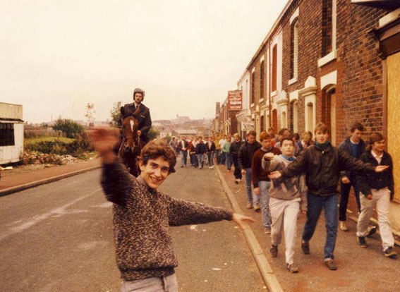 Palace escort, Mill Hill, Blackburn about 85/86. Is that Aryton Senna?