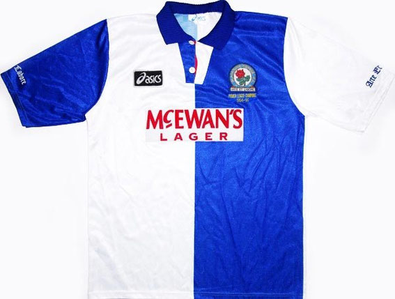 Worn when Rovers famously won the Premier League title.