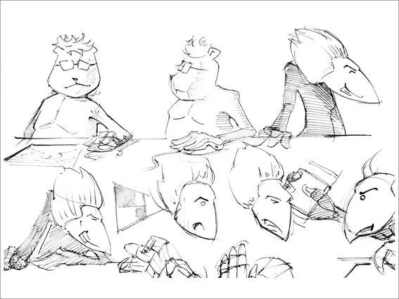 Character studies of both shopkeepers @ Jürgen Blankenhagen 2008